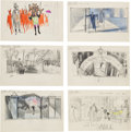 "Movie/TV Memorabilia:Documents, A Set of Original Storyboard Drawings from ""Island in the Sun.""..."