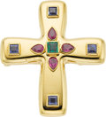 Estate Jewelry:Brooches - Pins, Multi-Stone, Gold Pendant-Brooch, Cartier. ...