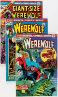 Bronze Age (1970-1979):Horror, Werewolf by Night #2-43 Near Complete Range Plus Group (Marvel,1972-77) Condition: Average VG.... (Total: 38 Comic Books)