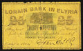 "Obsoletes By State:Ohio, Elyria, OH- Starr Bros. & Co. at the ""Lorain Bank"" 25¢ Oct. 1,1862 Wolka 1075-04. ..."