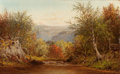 Fine Art - Painting, American, CHARLES W. KNAPP (American, 1823-1900). Autumn in theCatskills, 1864. Oil on canvas. 10 x 16 inches (25.4 x 40.6cm). I...