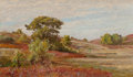 Fine Art - Painting, American:Antique  (Pre 1900), WILLIAM TROST RICHARDS (American, 1833-1905). Huckleberry Bushesat Matunuck, Rhode Island. Oil on board. 5-3/8 x 9-1/8 ...