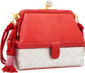 Luxury Accessories:Bags, Judith Leiber Red Lizard & Crystal Evening Bag. ...