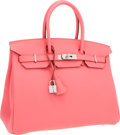 Luxury Accessories:Bags, Hermes 35cm Rose Lipstick Togo Leather Birkin Bag with Palladium Hardware. ...