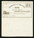 Obsoletes By State:Ohio, Greene, OH- Curtis & Smith 25¢-25¢ 1862 Wolka Unlisted UncutRemainder Sheet. ...