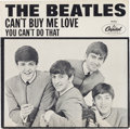 """Music Memorabilia:Recordings, Beatles """"Can't Buy Me Love""""/ """"You Can't Do That"""" Rare PictureSleeve (Capitol 5150, 1964)...."""