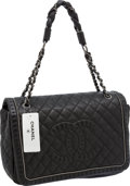Luxury Accessories:Bags, Chanel Black Quilted Leather Lady Braid Flap Bag with AntiquedSilver Hardware. ...