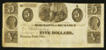 Obsoletes By State:Ohio, Hanging Rock, OH- Unknown Issuer at the Merchants & MechanicsBank of Wheeling $5 Remainder Wolka 1266-06. ...