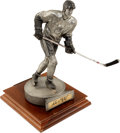 Hockey Collectibles:Others, Wayne Gretzky Signed Pewter Statue....