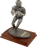 Football Collectibles:Others, Circa 2000 Joe Montana Signed Pewter Statue....
