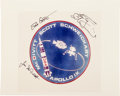 Autographs:Celebrities, Apollo 9 Crew-Signed Color Photo. ...