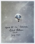 Autographs:Celebrities, Michael Collins Signed Apollo 11 Command Module Color Photo....
