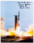 Autographs:Celebrities, Michael Collins Signed Apollo 11 Launch Color Photo....