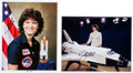 Autographs:Celebrities, Sally Ride: Two Signed Color Photos.... (Total: 2 Items)