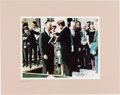 Autographs:Celebrities, Alan Shepard Signed Color Photo of Him Receiving the DistinguishedService Medal from JFK. ...
