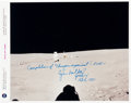 Autographs:Celebrities, Edgar Mitchell Signed Original NASA Lunar Surface Color Photo....