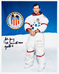 Autographs:Celebrities, John Young Signed White Spacesuit Color Photo....