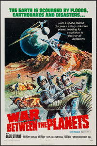 "War Between the Planets (Fanfare, 1971). One Sheet (27"" X 41""). Science Fiction"