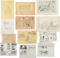 "Movie/TV Memorabilia:Original Art, A Large Group of Original Drawings and Storyboards from""Cleopatra.""..."