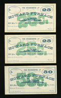Obsoletes By State:Ohio, Howard Furnace, OH- The Storekeeper at Howard Furnace 25¢ (2); 50¢Remainders Wolka Unlisted. ... (Total: 3 notes)