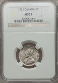 Canada, Canada: George V 5 Cents 1922,...