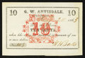 Obsoletes By State:Ohio, Hiram Rapids, OH- W. Batts at G.W. Antisdale 10¢ Jan. 20, 1863Wolka 1310-02. ...