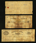 Obsoletes By State:Ohio, Jackson, OH- John L. Long 5¢; 10¢; 50¢ 1881 Wolka 1369-01; -02;-04. ... (Total: 3 notes)