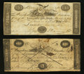Obsoletes By State:Ohio, Lancaster, OH- The Lancaster Ohio Bank Counterfeit $3; Counterfeit$5 Jan. 30, 1828 C20; C24 Wolka 1440-08; -13. ... (Total: 2 notes)