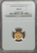 Mexico, Mexico: Republic gold Peso 1896 Mo-M,...