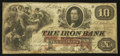 Obsoletes By State:Ohio, Ironton, OH- The Iron Bank $10 June 2, 1857 G16a Wolka 1344-14. ...