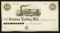 Obsoletes By State:Ohio, Ironton, OH- The Ironton Rolling Mill 10¢ Remainder Wolka 1348-02....