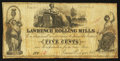 Obsoletes By State:Ohio, Ironton. OH- The Lawrence Rolling Mills - James Rodgers & Co.5¢ Feb. 1, 1858 Wolka 1350-01. ...