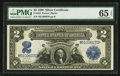 Large Size:Silver Certificates, Fr. 255 $2 1899 Silver Certificate PMG Gem Uncirculated 65 EPQ.. ...