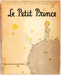 Books:Children's Books, Antoine de Saint-Exupéry. Le Petit Prince. New York:Harcourt, Brace, [n.d.]. Later printing. US edition in French. ...