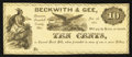 Obsoletes By State:Ohio, Kinsman, OH- Beckwith & Gee 10¢ Jan. 1, 1863 Remainder Wolka1417-02. ...
