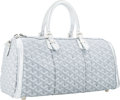 Luxury Accessories:Bags, Goyard Special Edition Silver Monogram Chevron Canvas CroisiereBag. ...