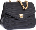 Luxury Accessories:Bags, Chanel Black Lambskin Leather Small Shoulder Bag with Gold ChainStrap. ...