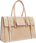 Luxury Accessories:Bags, Hermes 30cm Shiny Poudre Crocodile Drag Bag with Gold Hardware. ...