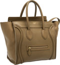 Luxury Accessories:Bags, Celine Taupe Leather Luggage Tote Bag. ...