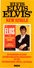 "Music Memorabilia:Posters, Elvis Presley ""Suspicious Minds"" In-Store Promotional Poster(1969). ..."
