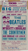 Music Memorabilia:Posters, Beatles Blackpool ABC Theatre Handbill, September 8, 1963....