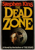 Books:Horror & Supernatural, Stephen King. INSCRIBED. The Dead Zone. New York: Viking, 1979. Book club edition. Inscribed by the author in the ...