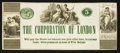 Obsoletes By State:Ohio, London, OH(?)- The Corporation of London 5¢ Undated Remainder WolkaUNL. ...
