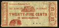 Obsoletes By State:Ohio, Lewistown, OH- Unknown Issuer 25¢ Remainder Wolka 1467-03. ...
