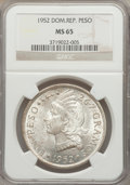 Dominican Republic, Dominican Republic: Republic Peso 1952 MS65 NGC,...