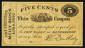 Obsoletes By State:Ohio, Lima, OH- W.C. Doubleday 5¢ Wolka 1472-01. ...