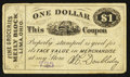 Obsoletes By State:Ohio, Lima, OH- W.C. Doubleday $1 Wolka 1472-05. ...