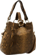 Luxury Accessories:Bags, Gucci Natural Python Three-Way Tote Bag . ...