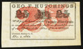 Obsoletes By State:Ohio, Litchfield, OH- Geo. F. Hutchings at the Store of W.S. Berdan 25¢Dec. 1, 1862 Remainder . ...