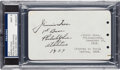 Baseball Collectibles:Others, 1929 Jimmie Foxx Signed Album Page, PSA/DNA Mint 9. ...